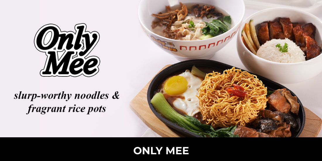 Freshly made noodle simmers in hearty soups and broth. OnlyMee serves you comforting meals of slurp- worthy noodles and also steaming rice pots that cure your hunger like none ever. Location: LEVEL 5