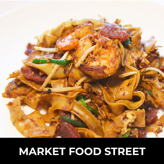 When it comes to Penang food, there is no more famous dish than char koay teow. Market Food Street at The Top in Komtar offers dishes like char koay teow, nasi tomato, burgers and more. Patrons can stop by for a taste of local and international flavours that envelope the taste buds with spices and delight. Location: LEVEL 5
